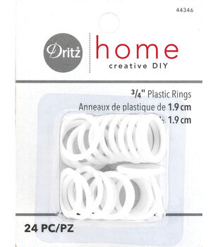 "Dritz Plastic Rings 3/4"" 24Ct"