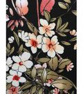 Apparel Knit Fabric 57\u0027\u0027-Pink Chrysanthemum on Black
