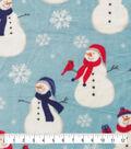 Anti-Pill Plush Fleece Fabric-Happy Snowmen Holiday