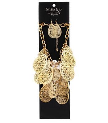 hildie & jo Filigree Teardrops Necklace & Earrings Set