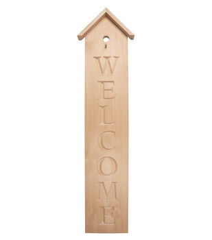 Simply Spring Crafts Wood Porch Sign-Welcome