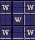 University of Washington Huskies Flannel Fabric 42\u0022-Plaid
