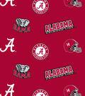 University of Alabama Crimson Tide Cotton Fabric -All over