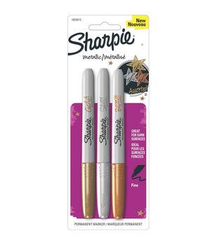 Sharpie Metallic Fine Point Permanent Markers 3/Pkg-Gold, Silver & Bronze