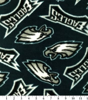 Philadelphia Eagles Fleece Fabric 58''-Tossed