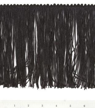 6.0 In Poly Fringe Black