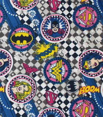 DC Comics Flannel Fabric -Girl Power