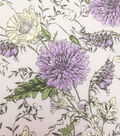 Stretch Chiffon Fabric 57\u0027\u0027-Lavender Floral