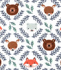 Nursery Flannel Fabric-Eamon Faces in Circle