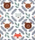 Nursery Flannel Fabric -Eamon Circle Faces
