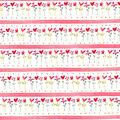 Valentine\u0027s Day Cotton Fabric-Hearts, Flowers & Stripes