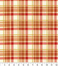 Harvest Cotton Fabric 44\u0022-Orange Harvest Bounty Plaid