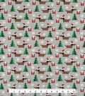 Doodles Christmas Interlock Cotton Fabric -Doxin Holiday