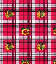 Chicago Blackhawks Fleece Fabric -Plaid, , hi-res