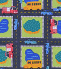 Nursery Flannel Fabric -Roadway