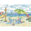 Design Works Crafts 11\u0027\u0027x18\u0027\u0027 Counted Cross Stitch Kit-Beach Signs