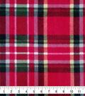 Super Fleece Fabric -Red Everest Plaid
