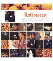 "American Crafts Single-Sided Paper Pad 12""X12"" 48/Pkg-Halloween, , hi-res"