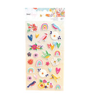 American Crafts Dear Lizzy Puffy Sticker Sheet, , hi-res