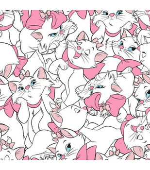 Disney Aristocats Fleece Fabric-Marie Allover