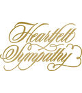 Couture Creations Anna Griffin Hotfoil Stamp-Heartfelt Sympathy