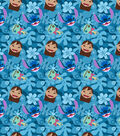Disney Lilo and Stitch Cotton Fabric 43\u0022-Stitch Head Toss