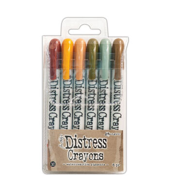 Tim Holtz Pack of 6 Distress Crayons-Set #10