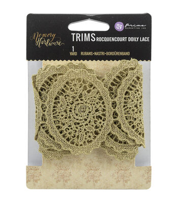 Prima Marketing Memory Hardware Doily Lace Trim 2.5''x1 yds-Rocquencourt