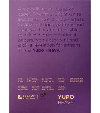 Legion Paper Yupo 10-sheet 5''x7'' 144 lb Heavy Pad-White
