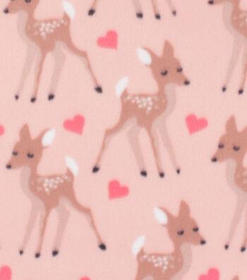 "Blizzard Fleece Fabric 59""-Loving Doe on Peach"