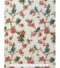 Knit Apparel Fabric-Birds & Pink Floral