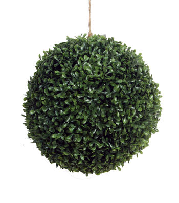 "Bloom Room 11"" Soft Touch Boxwood Kissing Ball-Green"