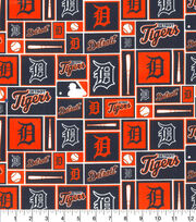 Detroit Tigers Cotton Fabric -Patch, , hi-res