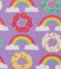 Blizzard Fleece Fabric -Donuts & Rainbows