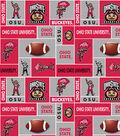 Ohio State University Buckeyes Fleece Fabric 60\u0027\u0027-Block