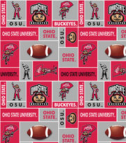 Ohio State University Buckeyes Fleece Fabric 60''-Block, , hi-res