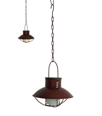 Camp Ann Solar Hanging Lantern-Red