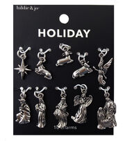 hildie & jo Holiday Charms-Silver Nativity, , hi-res
