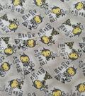 Nursery Fleece Fabric-Bees on Gray