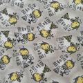 Nursery Fleece Fabric-Gray & Yellow Bees