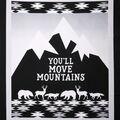 Nursery Panel-Black & White Logan Move Mountains