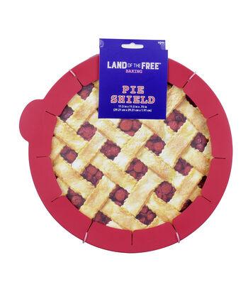 Land of the Free Baking Patriotic Pie Shield