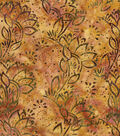 Legacy Studio Batik Fabric 44\u0022-Neutral Leaves