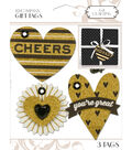 K&Company Gold Heart Gift Tags