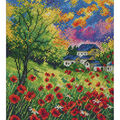 Run Away Poppies Counted Cross Stitch Kit 14 Count
