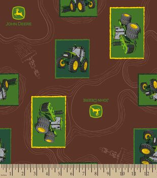John Deere Aerial Tractor Patch Print Fabric