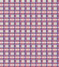 Premium Cotton Fabric-Red & Blue Plaid