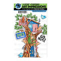 Art Impressions Critter Cubbies Clear Stamp & Die Set-Woodland Tree