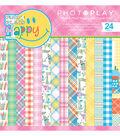 Photoplay Paper Mad 4 Plaid Happy 6\u0027\u0027x6\u0027\u0027 Double-Sided Paper Pad