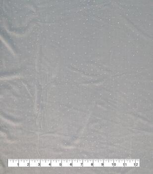 Sew Sweet Velvet Fabric-Icy Blue & Silver Foil Dot